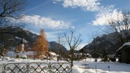 Winter Alpen Dorf