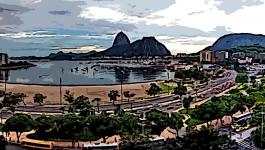 Illustration Baeume Botafogo Panorama