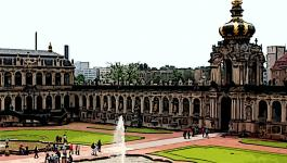 Illustration Dresden Zwinger Hof