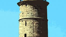 Illustration Runder Schlichter Turm